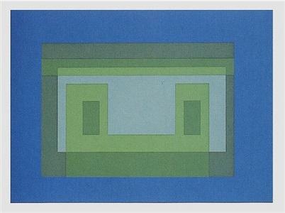 ten variants portfolio (pictured: variant v) by josef albers
