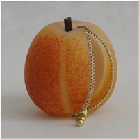 untitled - peach with open zipper by stephanie chubbuck