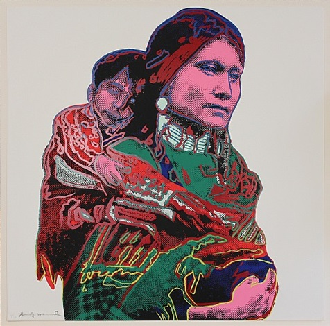 mother and child (from cowboys and indians) by andy warhol