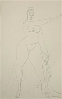 draped standing figure by gaston lachaise