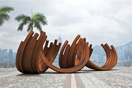 bernar venet, hong kong cultural centre museum of art piazzas by bernar venet