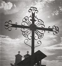 mission san xavier del bac, tucson, arizona, by ansel adams