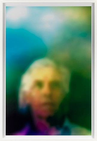homage to marcel duchamp: aura (grey haired man) by susan hiller