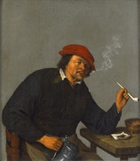a man in an interior by cornelis dusart