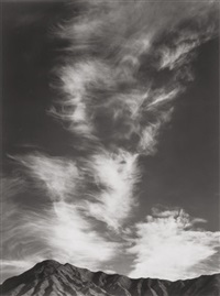clouds above golden canyon, death valley (from portfolio ) by ansel adams