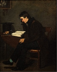 portrait of a man in his study by isidore alexandre augustin pils