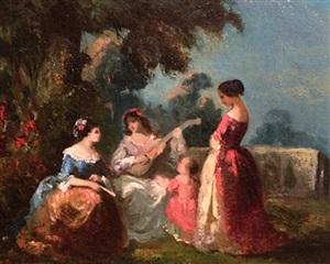 concert in the garden by narcisse virgile diaz de la peña