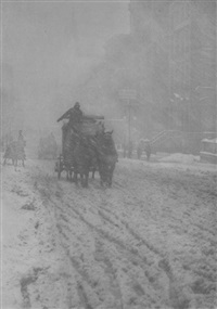 winter, fifth avenue by alfred stieglitz