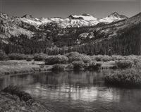 mt. lyell and mt. maclure, yosemite national park, by ansel adams