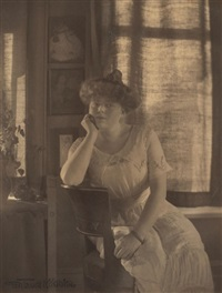 portrait of florence l. carpenter, menominee, michigan by gertrude kasebier