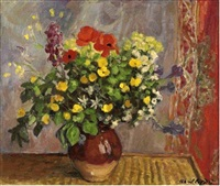 vase of flowers by albert andré