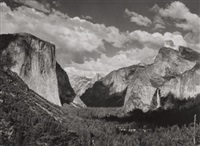 valley view of wawoma tunnel, yosemite national park, by ansel adams
