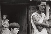 mrs, hulhall and children, arkansas by ben shahn