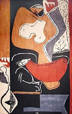 woman with rising hand by le corbusier