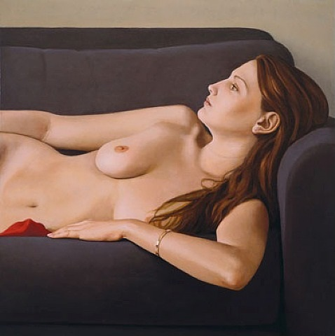 nude on grey couch by ron schwerin