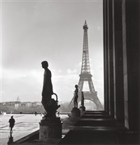 eiffel tower (cover image for life magazine) (+ notre dame; 2 works) by edward clark
