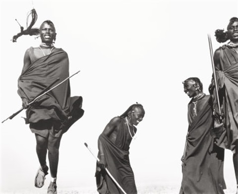 maasai dancers ceremonial dance africa by herb ritts
