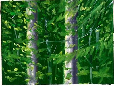 two trees #1 by alex katz