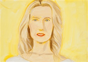 portrait (yellow nude) by alex katz