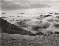 clearing storm, sonoma county hills, ca by ansel adams