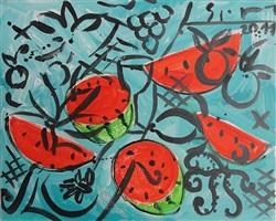melonen vor blau by stefan szczesny