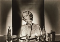untitled (woman seated at vanity) by gordon h. coster