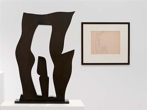 installation view by andy warhol and hans arp