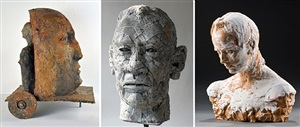 heads up! the human head interpreted by 7 sculptors