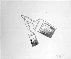 hardware item: two paint brushes by andy warhol