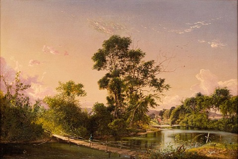 lot no. 14: sunset on the unadilla river by david johnson