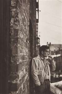 jack kerouac, new york (from the year of tibet portfolio) by allen ginsberg
