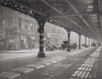 under 3rd avenue el, new york by todd webb