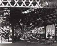 under the el at the battery, by berenice abbott