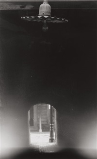 unlit lamp and tunnel, haymarket square, boston by minor white