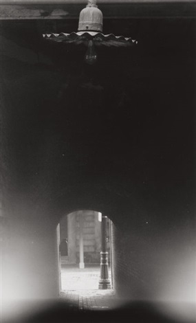unlit lamp and tunnel haymarket square boston by minor white