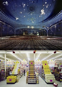 gotham theater, above and below, new york, ny, etats-unis, 2009 by yves marchand and romain meffre