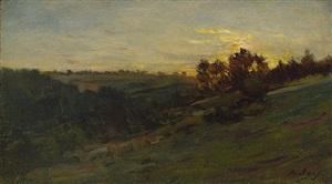 crépuscule dans l'oise by charles françois daubigny