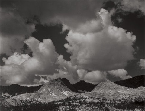 emerald peak sierra nevada california by ansel adams