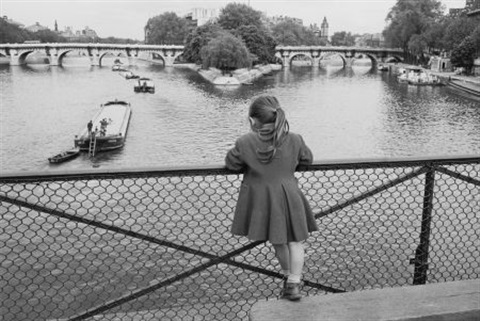 paris pont des arts by edouard boubat