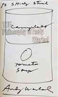 campbell's tomato soup - inscribed to shirly strick by andy warhol
