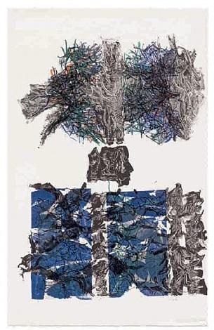 feuilles vi by jean paul riopelle
