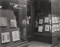 hacker book store, bleeker street, new york by berenice abbott