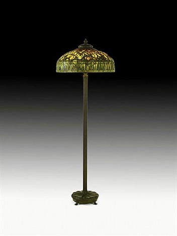 lot no. 373: fine floor lamp with tulip shade by tiffany studios