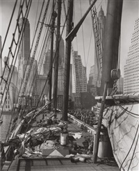 theoline, pier 11, east river, new york by berenice abbott