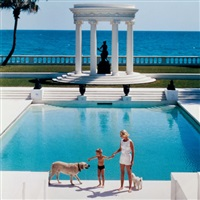mrs. f.c. winston guest and son, villa artemis, palm beach by slim aarons