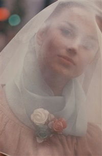 untitled (woman's portrait) by saul leiter