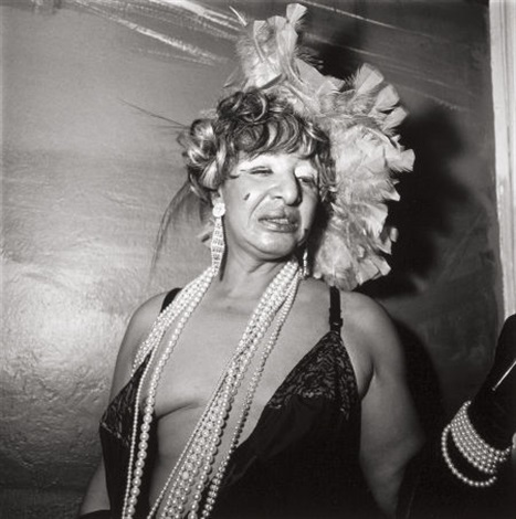 transvestite at a drag ball, new york city by diane arbus