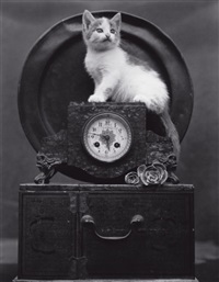 mary (on clock) by edward weston