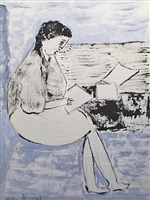 seated woman by milton avery