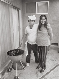 sunday afternoon we get it together, i cook the steaks and my wife makes the salad by bill owens
